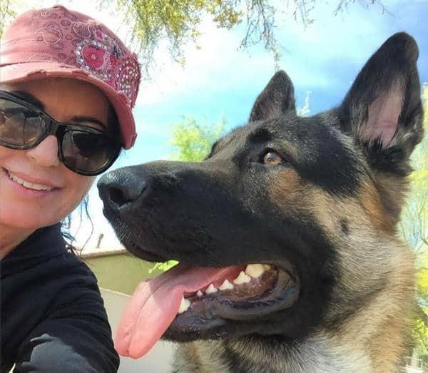 MAK and her German Shephard Dog named Obi