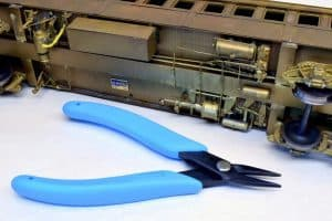 Xuron® Model 485 Long Nose Plier was used to restore a vintage model railroad car
