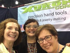 Brenda Schweder, Ashley Bunting and Abby Robey at Bead and Button 2017