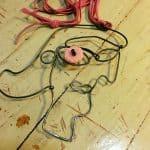 Brenda Schweder steel wire Picassoesque piece