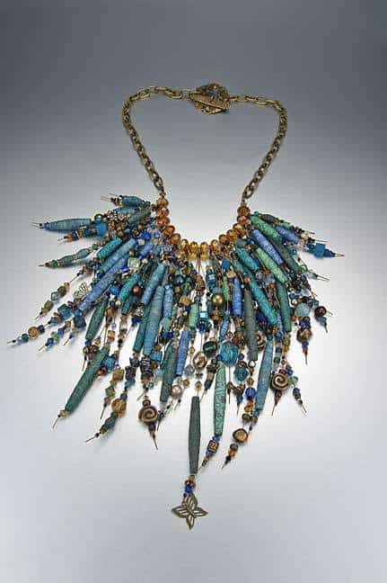 Silk bead necklace by Kristal Wick