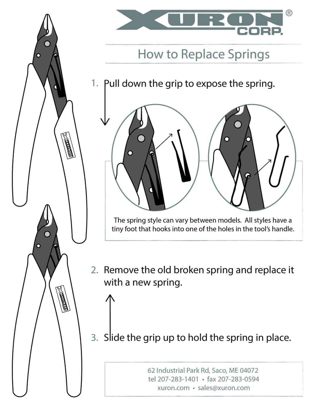 How to replace springs on Xuron® Cutters and Pliers.