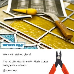 The Xuron® Model 2175 easily cuts lead came for stained glass work..
