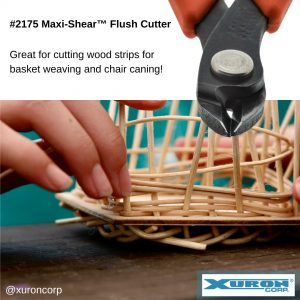 The Xuron® Model 2175 cuts wood strips for basket weaving or chair caning.