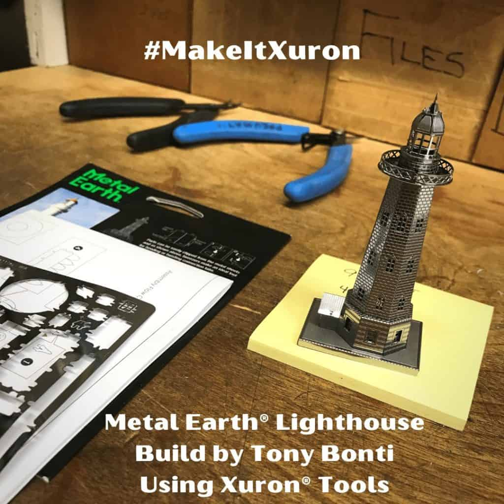 Metal Earth® Lighthouse built by Tony Bonti of Xuron Corp.