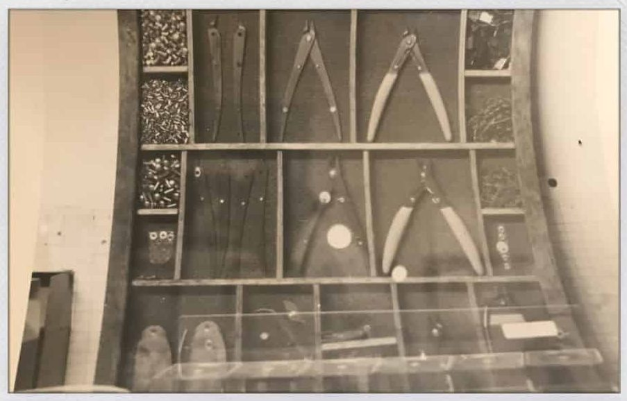 An early product display.
