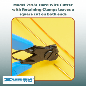 Xuron® Model 2193F Hard Wire Cutter with Retaining Clips.