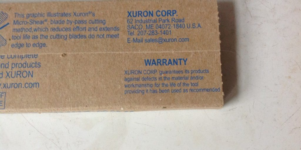 All Xuron® brand tools come with our factory warranty covering defects in materials and/or workmanship for the life of the tool.